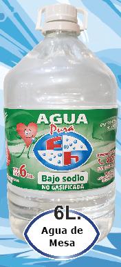 agua Bajo Sodio de 6 litros