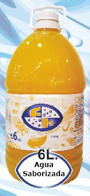 agua Saborizada Naranja 6 litros