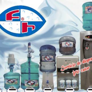 agua 12/20 litros y dispenser